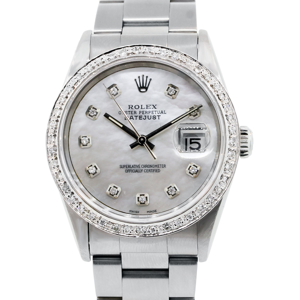 You are viewing this Rolex Datejust 16234 Mother of Pearl Diamond Watch!