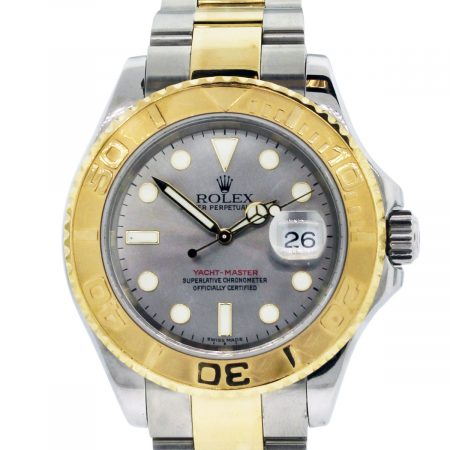 You are viewing this Rolex 16623 Two Tone Yacht-Master Silver Dial Watch!