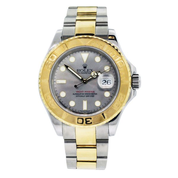 Rolex 16623 Two Tone Yacht-Master Silver Dial Watch