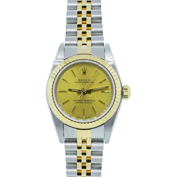 You are viewing this Rolex Oyster Perpetual 76193 Two Tone Ladies Watch!
