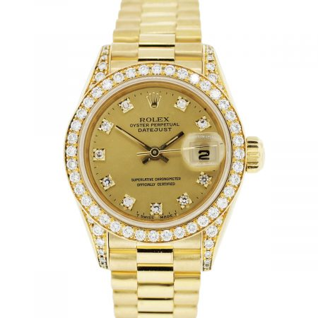 You are viewing this Rolex Datejust Presidential Diamond Ladies Watch!