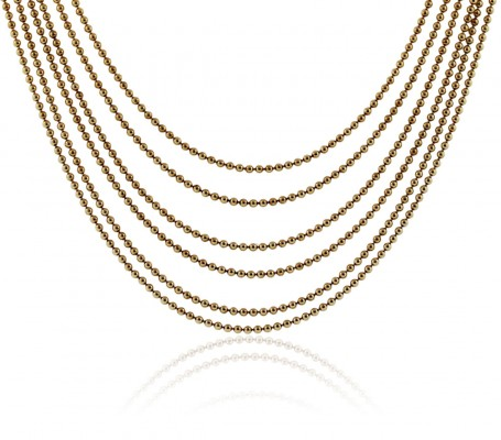 CARTIER 18K YELLOW GOLD SIX STRAND NECKLACE