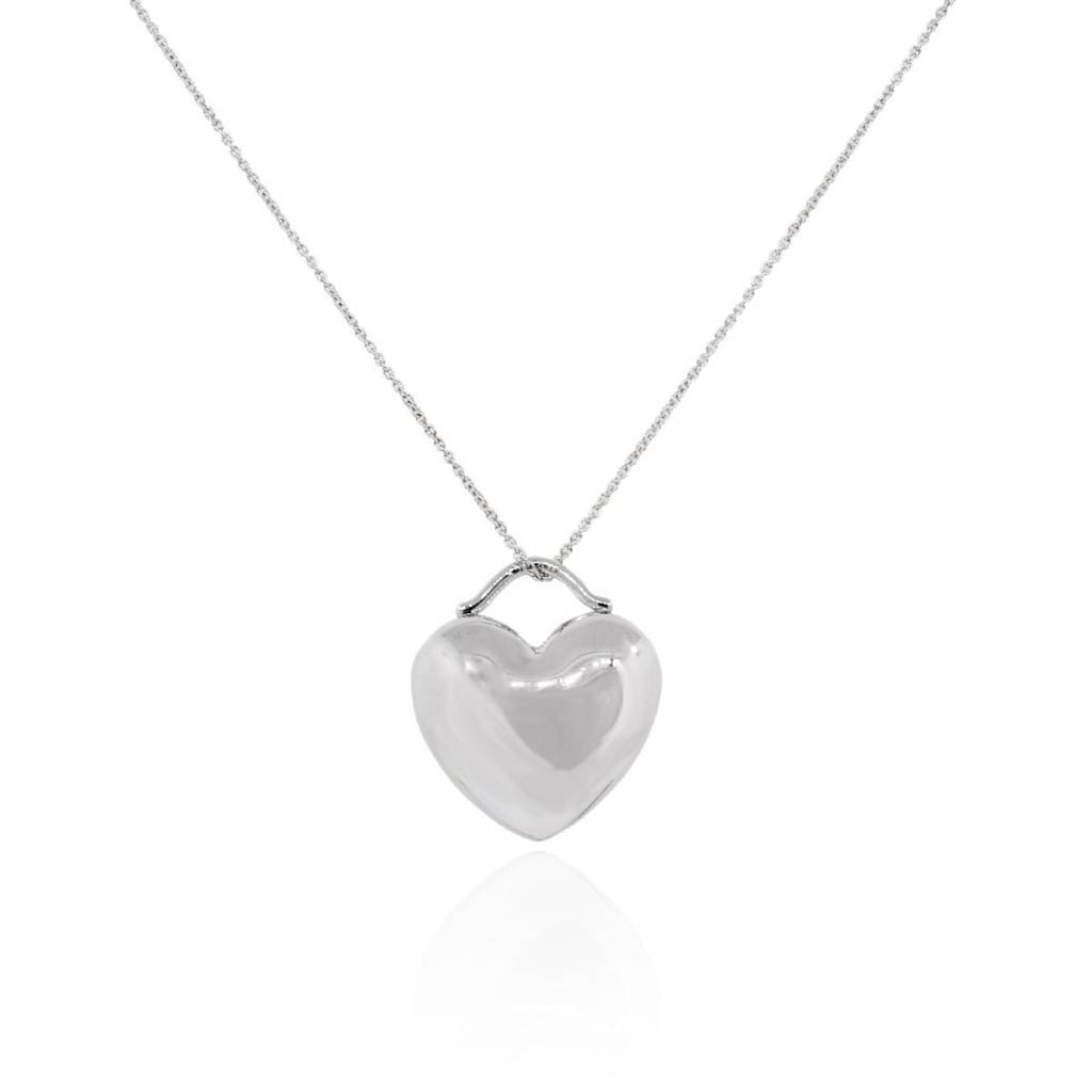 fc57cc961 Tiffany & Co. Sterling Silver Puff Heart Pendant Necklace