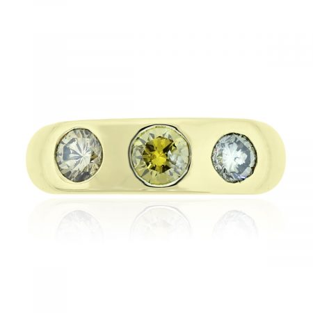 You are viewing this 18k Yellow Gold Multicolor 1ctw Diamond Ring!