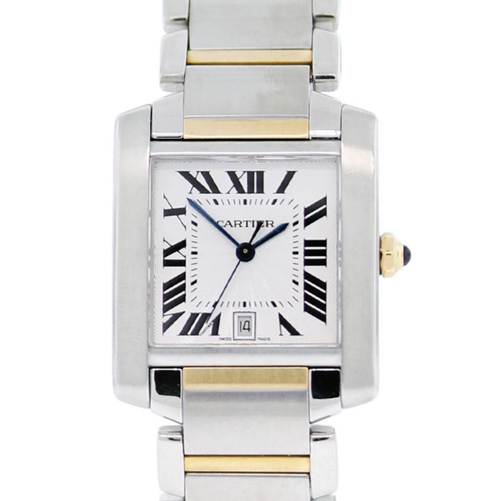 ee514b2c2e1eb Cartier Tank Francaise 2302 Two Tone Mens Watch