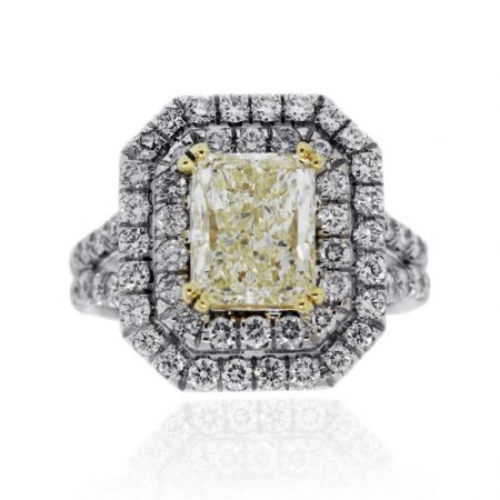 You are viewing this Radiant Fancy Light Yellow 3ctw Diamond Ring!
