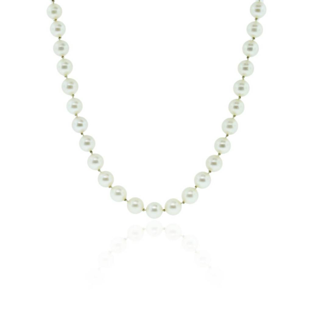 Mikimoto Pearls Necklace: Mikimoto Silver 7mm Pearl Necklace