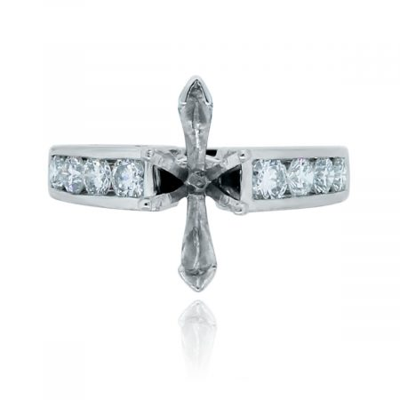 You are viewing this Platinum Round Brilliant .80ctw Diamond Mounting!