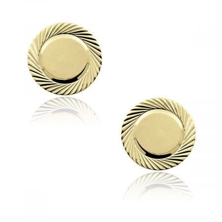 You are viewing these 14k Yellow Gold 18mm Round Cufflinks!