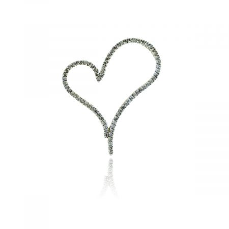You are viewing this Yellow Gold 2.5ctw Champagne Diamond Heart Pendant!