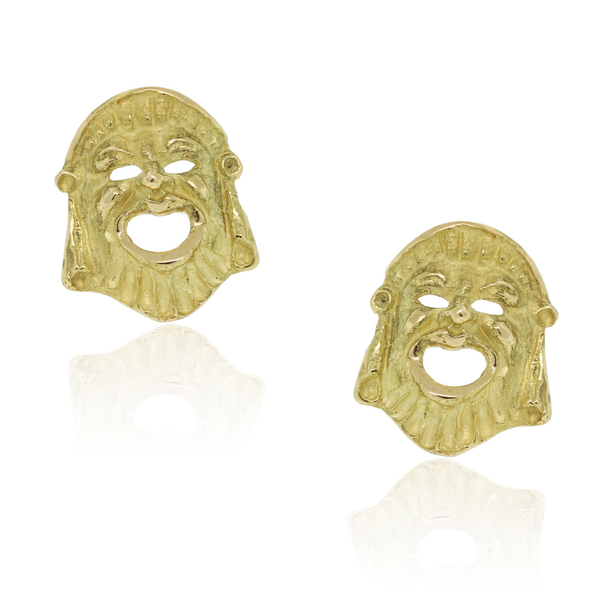 You are viewing these 18k Yellow Gold Greek Tragedy Mask Cufflinks!