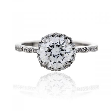 You are viewing this 18k White Gold 1.28ctw Diamond Engagement Ring
