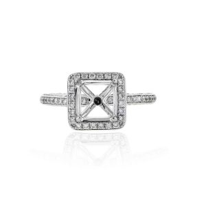 You are viewnig this 18k White Gold 1.75ctw Diamond Halo Mounting!