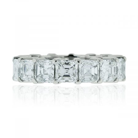 You are viewing this Platinum 7ctw Asscher Cut Diamond Eternity Band!