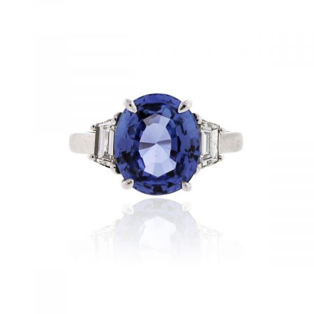 You are viewing this Platinum Sapphire and Diamond Ring!