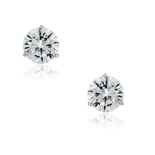 You are viewing these14k White Gold 5.43ctw Diamond Stud Earrings!