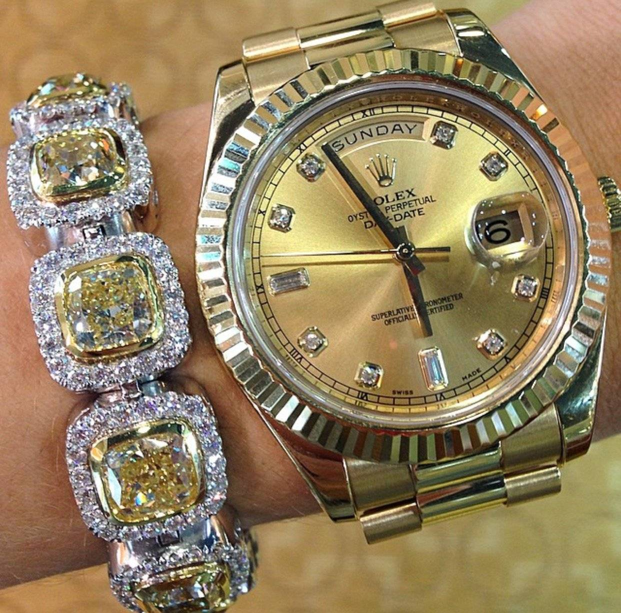 Women Wearing Rolex Day-Date II Raymond Lee Jewelers