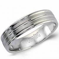 Crown Ring LB-2008-M10 Double Row Wedding Band