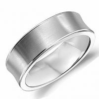 Crown Ring LB-2023-M10 Wide Smooth Wedding Band