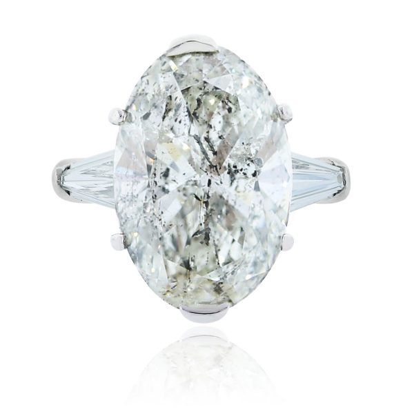 You are viewing this Platinum 9.05ct Oval Diamond Engagement Ring!