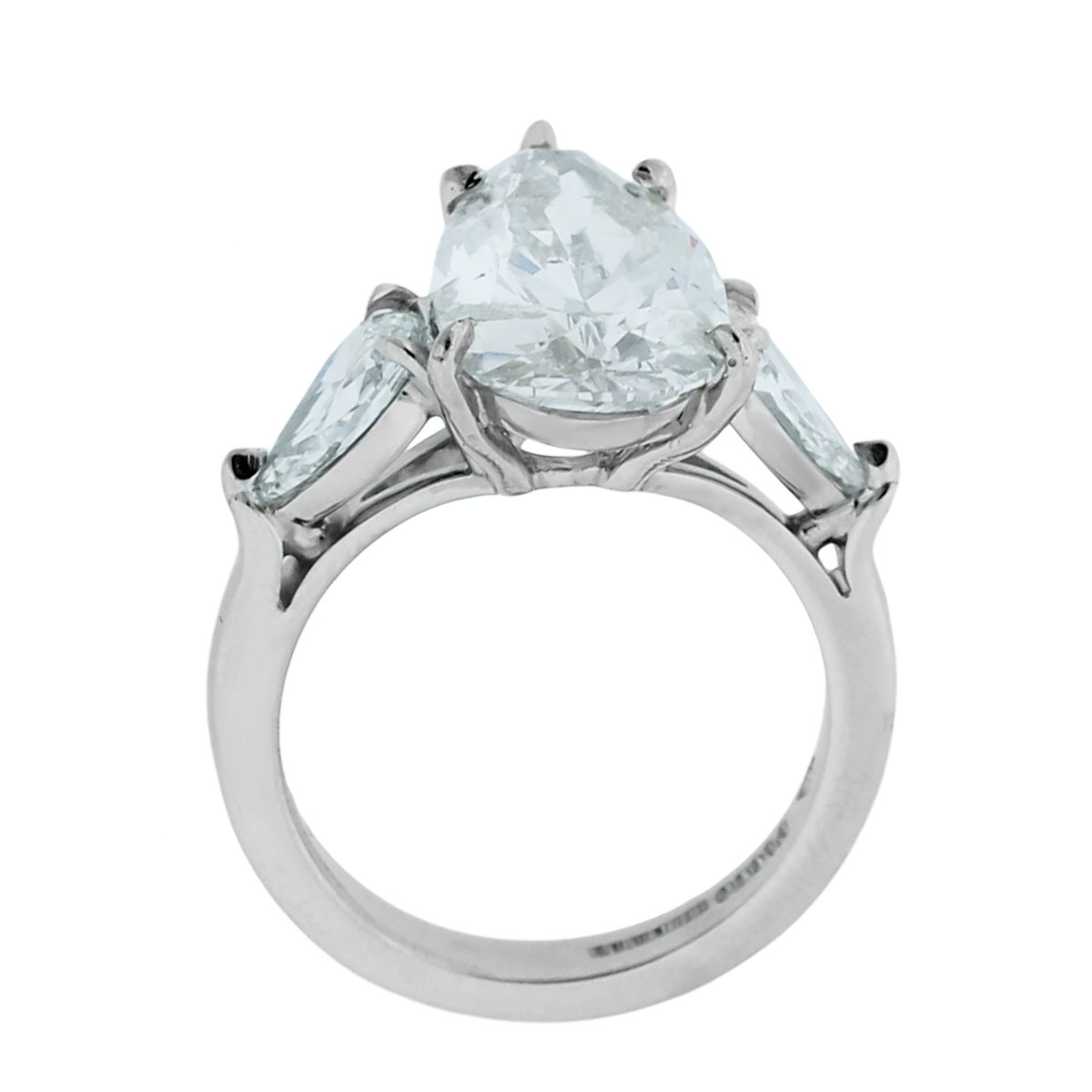 Platinum 5.01ct Pear Shape Diamond Ring