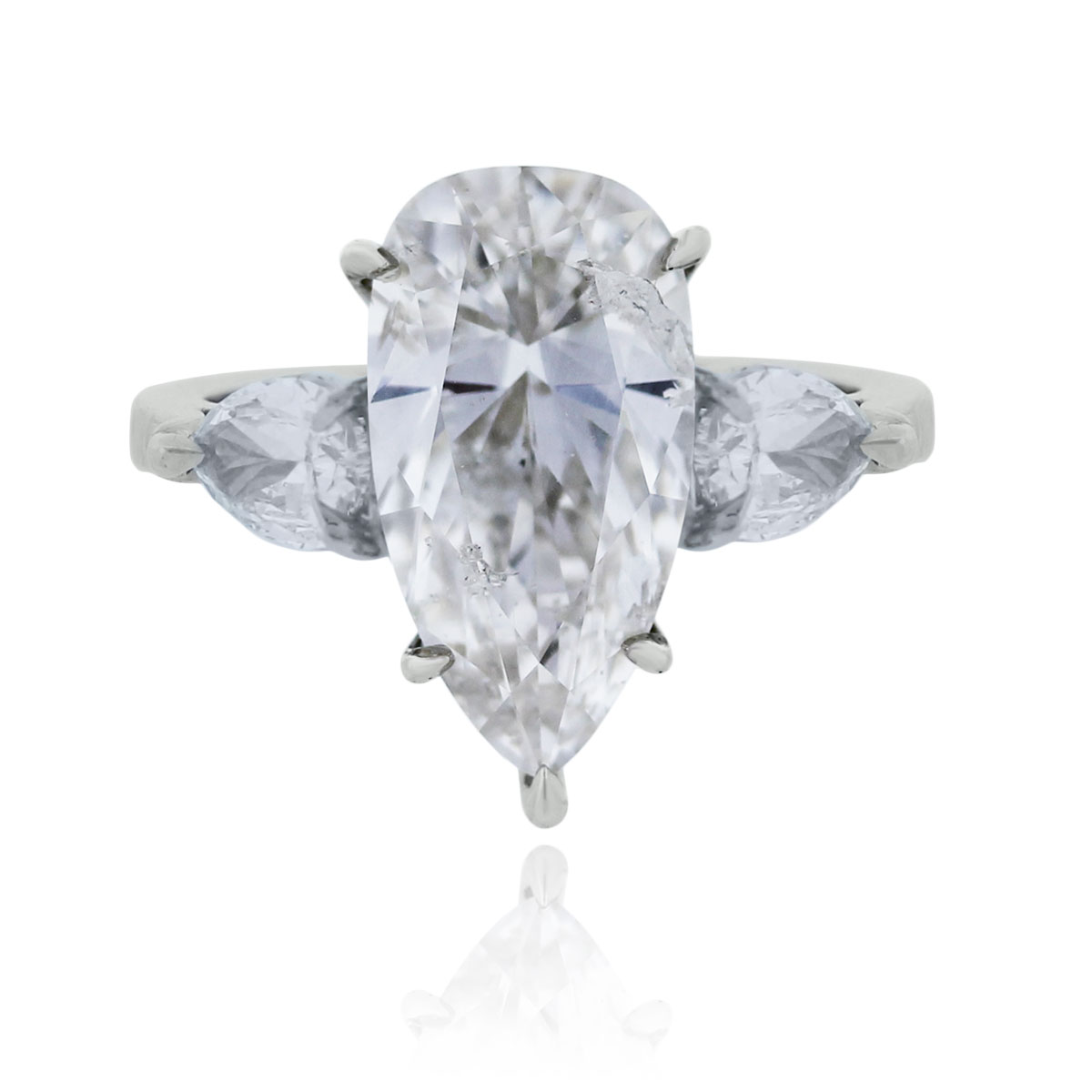 You are viewing this Platinum 5.01ct Pear Shape Diamond Engagement Ring!
