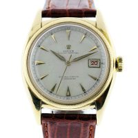 Rolex 6075 Bubble Back 18k Yellow Gold Vintage Watch