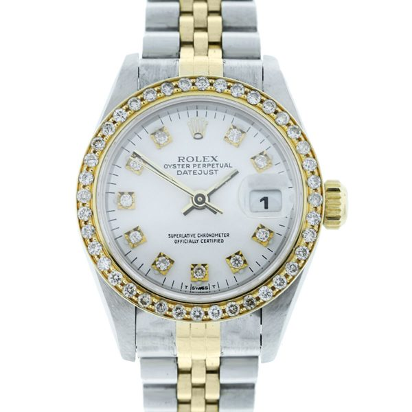 You are viewing this Rolex Datejust 69173 Diamond Dial & Bezel Ladies Watch!