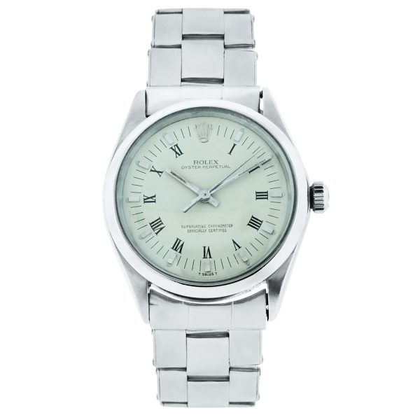 Rolex 1002 Oyster Perpetual Beige Roman Dial Watch