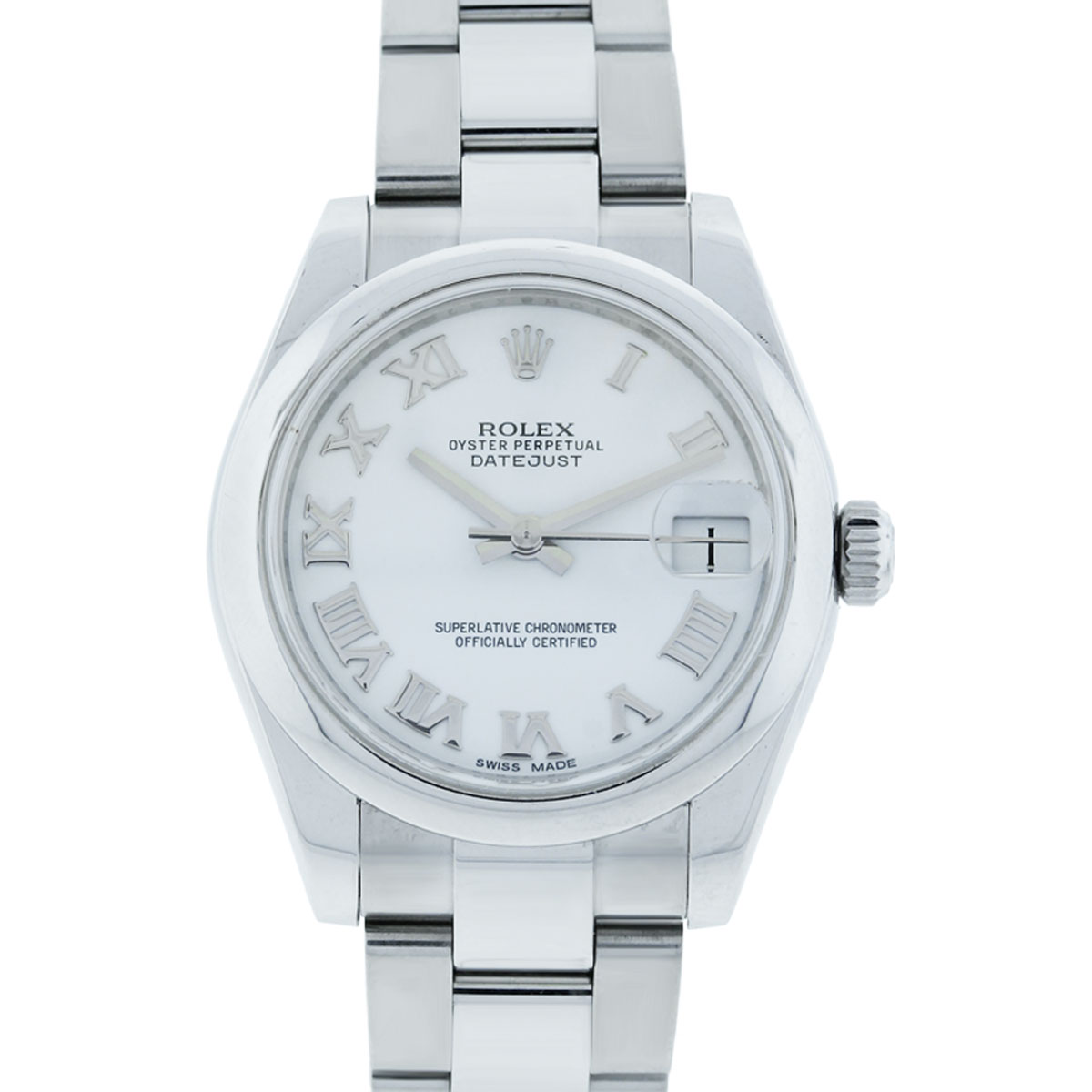 You are viewing this Rolex Datejust 178240 White Roman Dial Midsize Watch!
