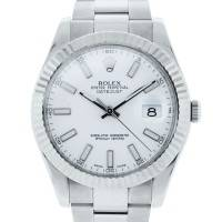 Rolex Datejust II 116334 Steel Oyster White Dial Watch