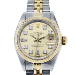 You are viewing this Rolex Datejust 69173 TT Champagne Dial Ladies Watch