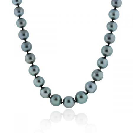 You are viewing this 18k Yellow Gold 10mm Black South Sea Pearls Necklace!