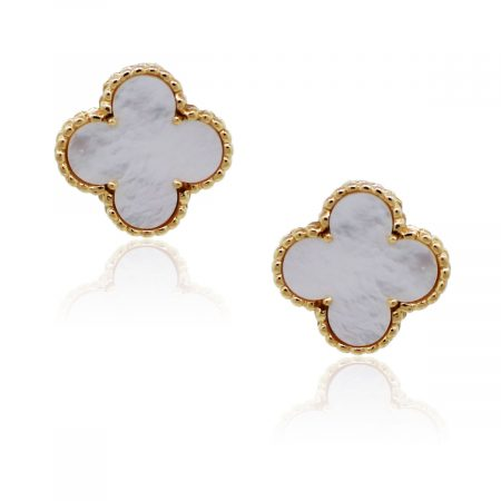 You are viewing this Van Cleef & Arpels Mother Of Pearl Yellow Gold Earrings!