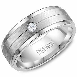 Crown Ring WB-7108SP-M10 Diamond Band