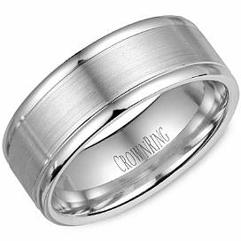 Crown Ring WB-7134SP-M10 Sandpaper Finish Band