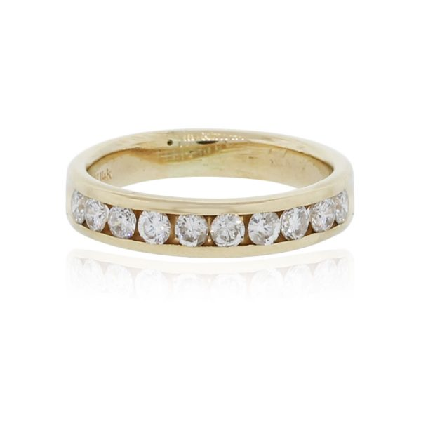 You are viewing this 14k Yellow Gold .50ctw Diamond Band Ring!