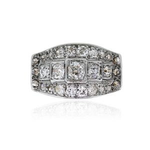 You are viewing this 14k Two Tone 1.5ctw Diamond Vintage Ring!