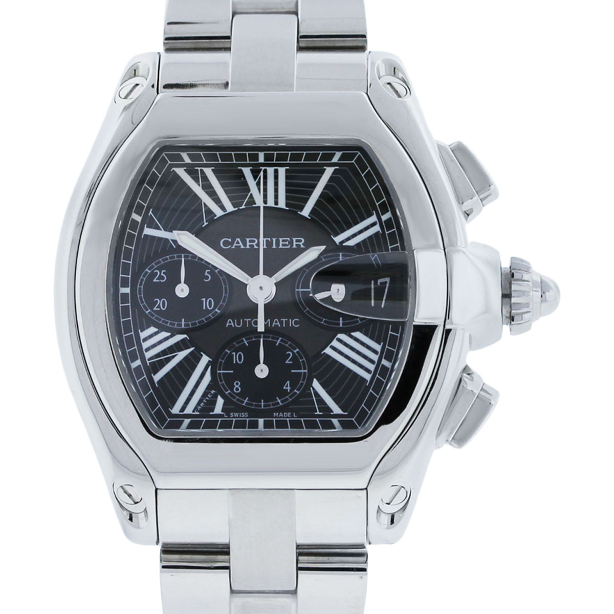 Cartier Roadster Xl Chronograph Black Dial Mens Watch