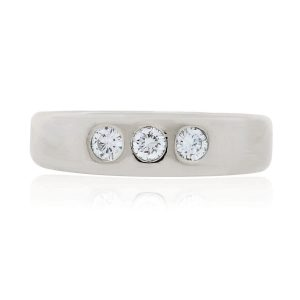 You are viewing this 18k White Gold .45ctw Diamond Mens Ring!