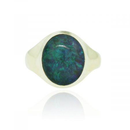 You are viewing this 14k Yellow Gold Opal Cocktail Ring