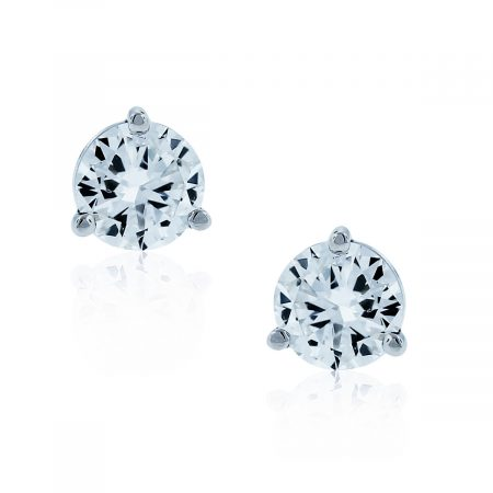 You are viewing this 14k White Gold 1.02ctw Round Diamond Stud Earrings