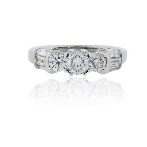 14k White Gold 1.6ctw Diamond Engagement Ring