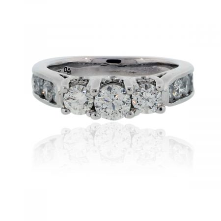 You are viewing this 14k White Gold 1.5ctw Diamond Engagement Ring!