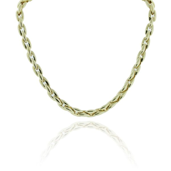 You are viewing this 14k Two Tone Gold Chain Choker Necklace!