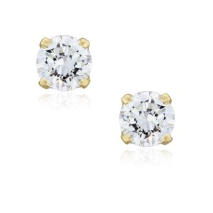 You are viewing these 14k Yellow Gold .70ctw Diamond Stud Earrings!