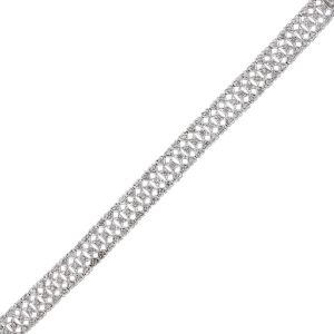 You are viewing this 18k White Gold 1.5ctw Diamond Hearts Bracelet!