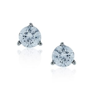 You are viewing this 14k White Gold .60ctw Round Diamond Stud Earrings