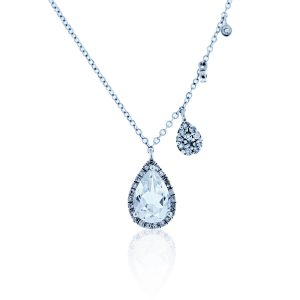 You are viewing this Meira T 14K White Gold Clear Quartz & Diamond Necklace