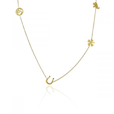 You are viewing this Jennifer Zeuner Gold Multi Charm Necklace!